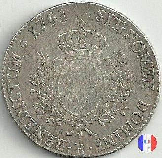 """scudo """"au bandeau"""" dal 1749 al 1752 1751 (Rouen)"""