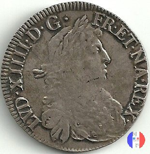 """scudo """"au buste juvenile de Navarre"""" 1671 (Saint Palais)"""